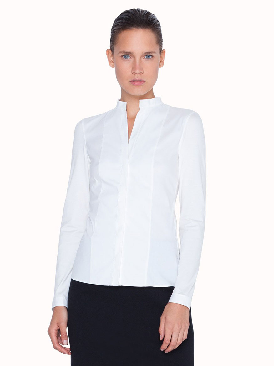 Akris Punto Elements Long Sleeve Blouse