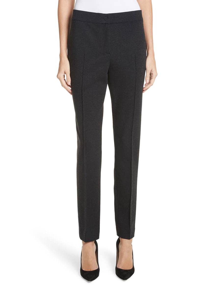 Akris Punto Mara Stretch Jersey Pants in Charcoal