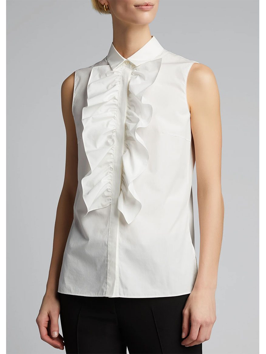 Akris Punto Kent Blouse with Ruffle Front