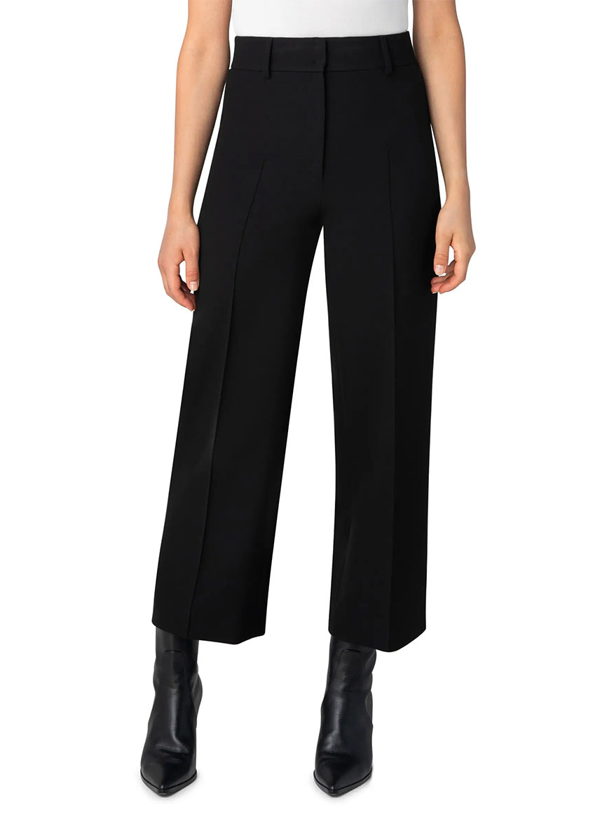 Buy Pebble Stretch Crepe Ankle Pant Black Pants Larrimors.com