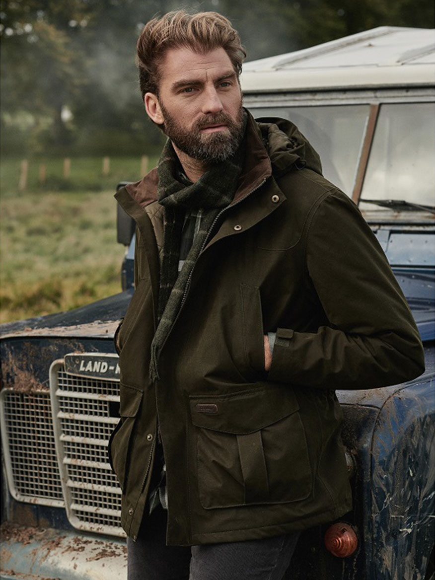 Barbour Brockstone Waterproof Jacket in Dark Olive