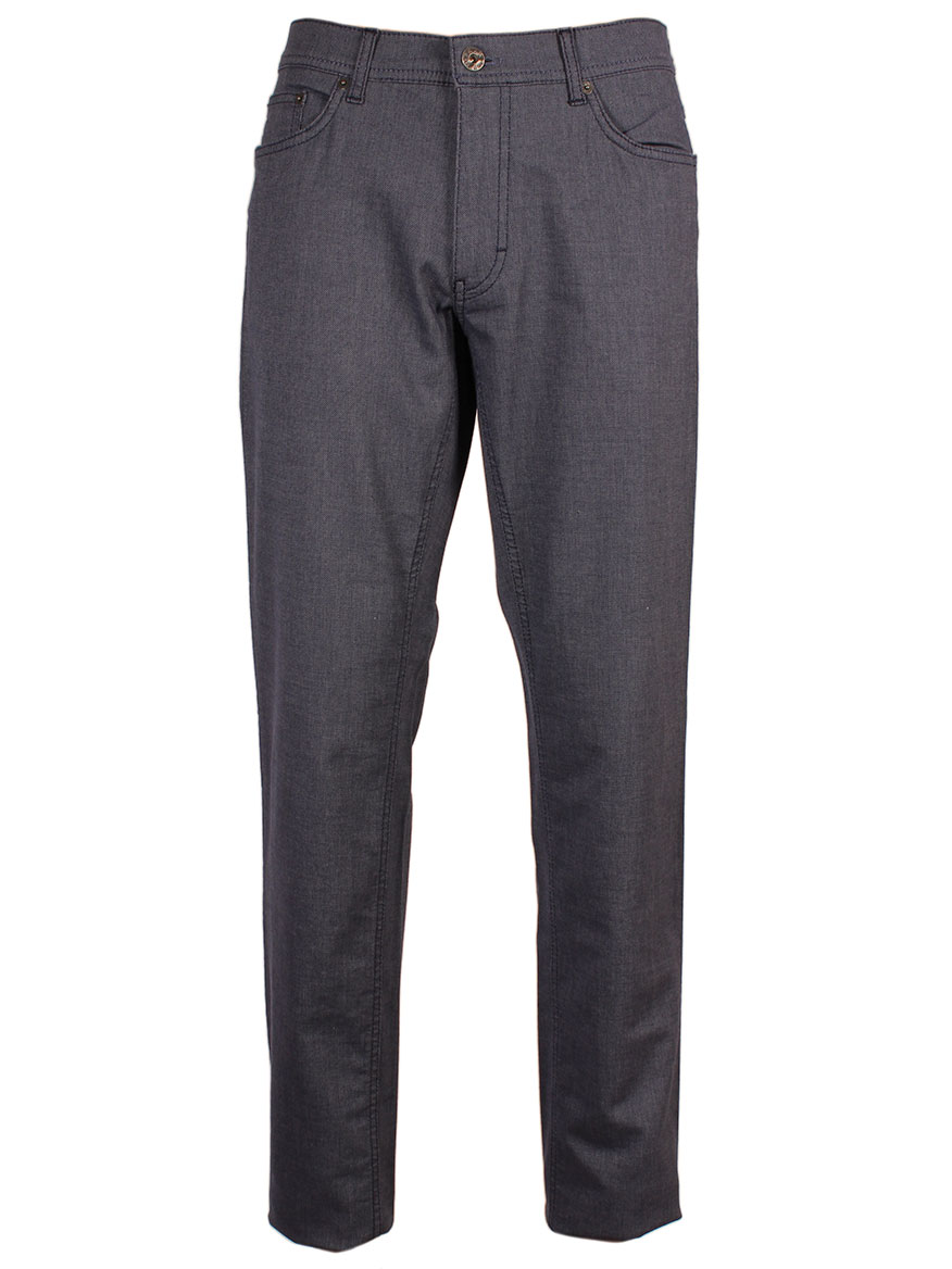 Brax Cooper Fancy Two-Tone Flex Trousers in Blue