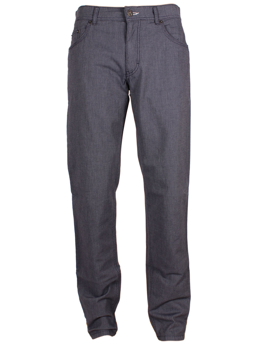 Brax Cooper Fancy Two-Tone Trousers in Blue