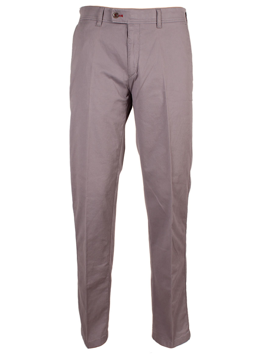 Brax Evans Kapok & Pima Luxury Chinos in Platin