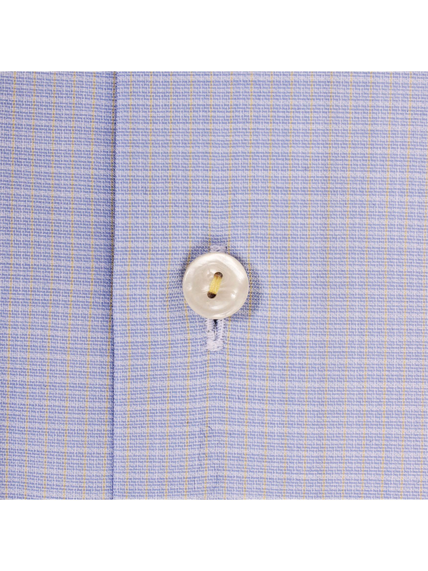 7757df49b3 ... Eton Light Blue   Yellow Deco Mini Plaid Dress Shirt ...