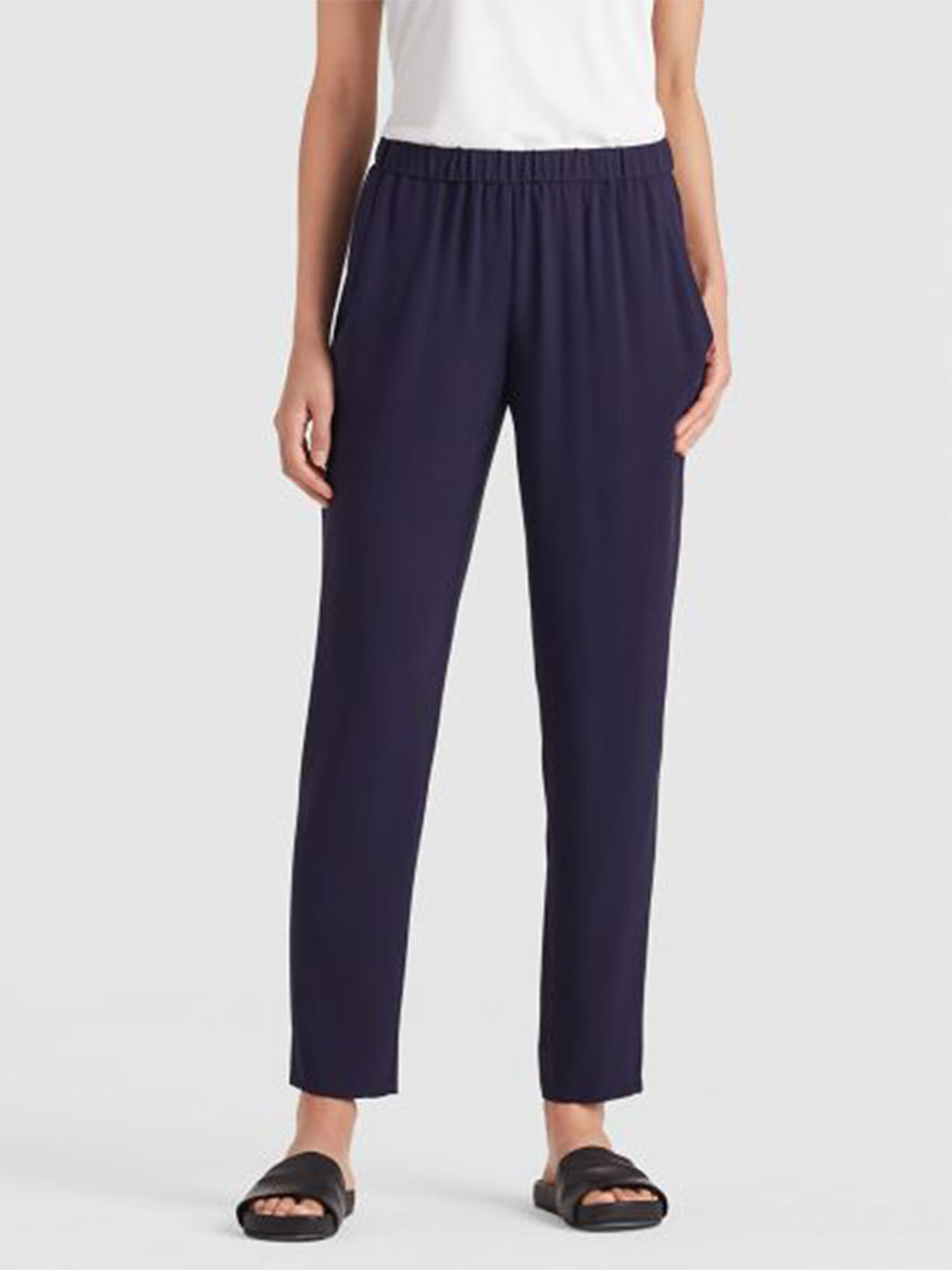 Eileen Fisher System Slouchy Pant in Midnight