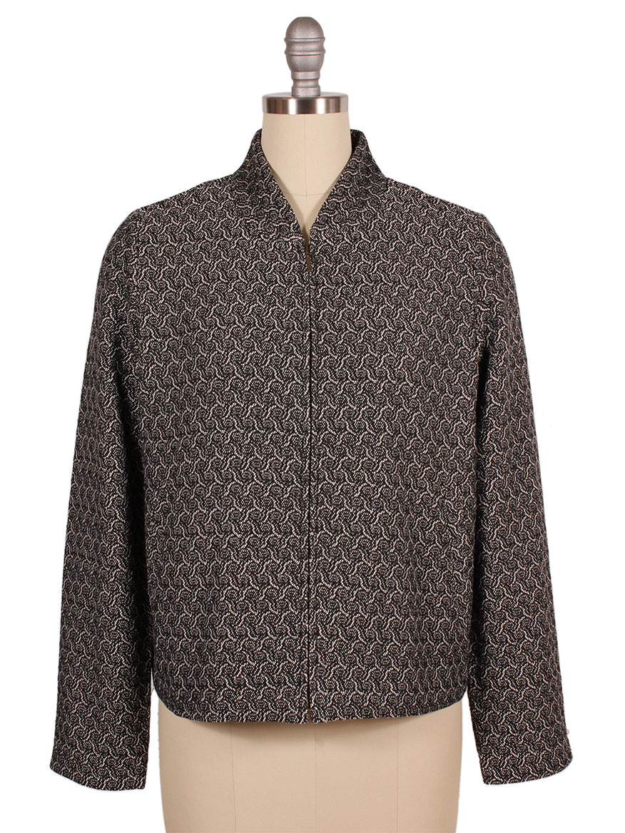 Eileen Fisher Recycled Cotton Blend Jacquard Flight Jacket