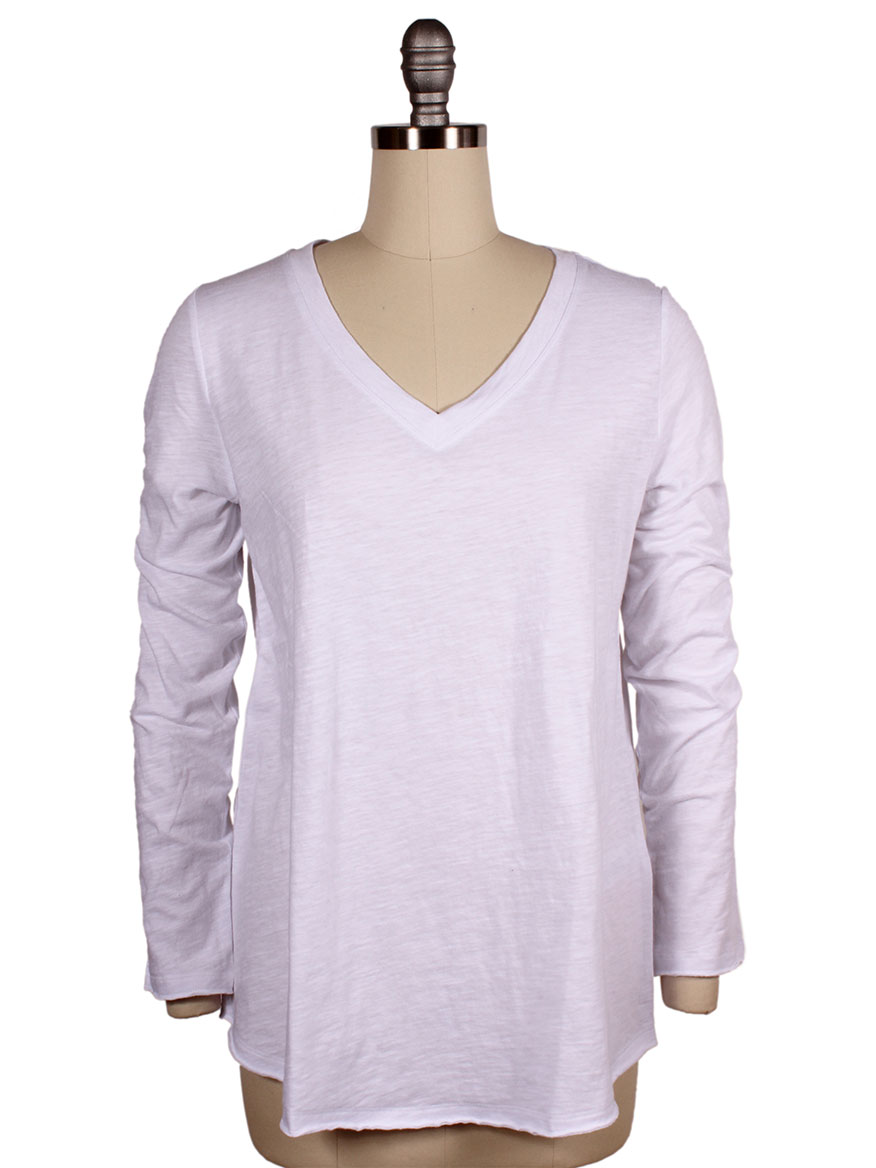 Eileen Fisher Organic Cotton Slub V-Neck Top
