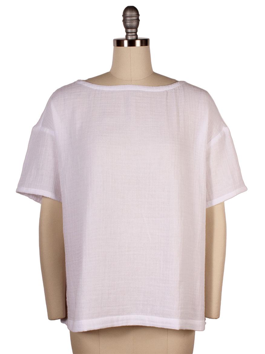 a9d4cb4b433 Eileen Fisher Organic Cotton Gauze Shirt – DACC