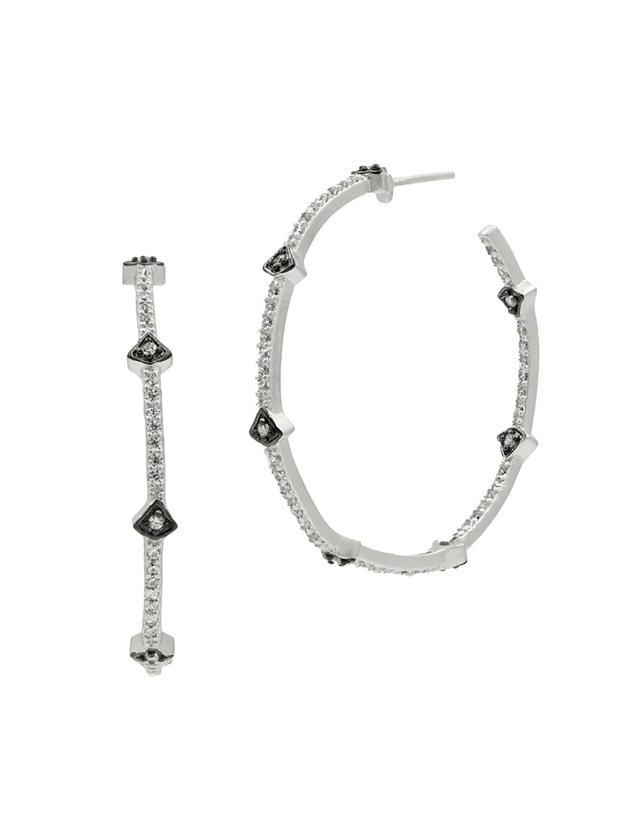Freida Rothman Signature Arrow Station Hoop Earrings