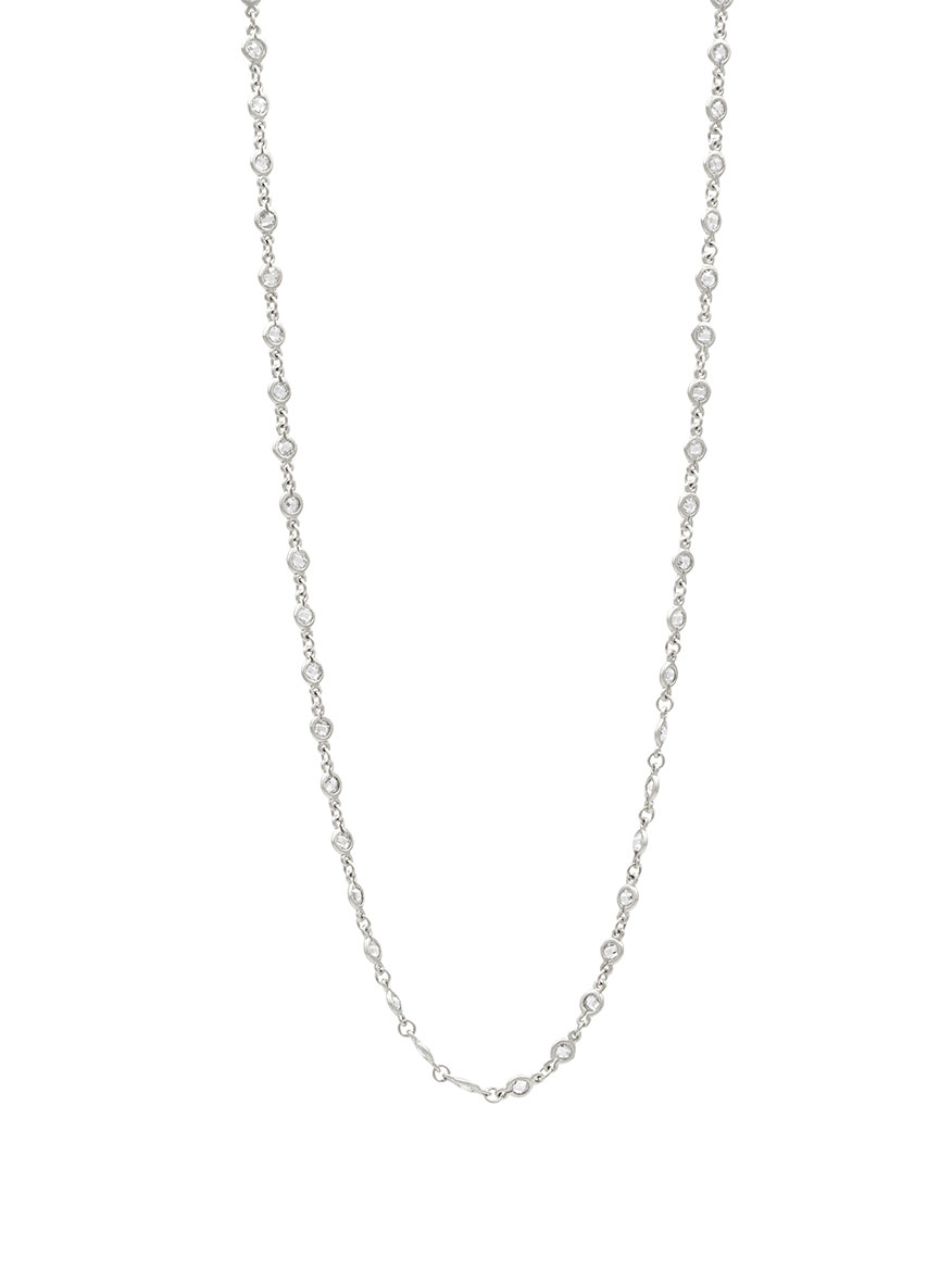 Freida Rothman Embellished Wrap Chain Necklace in Silver