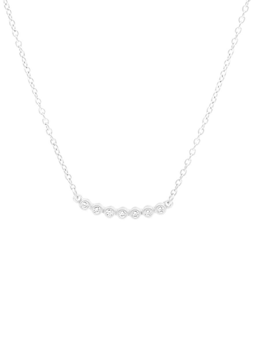 Freida Rothman Horizontal Bezel Pendant Necklace in Silver