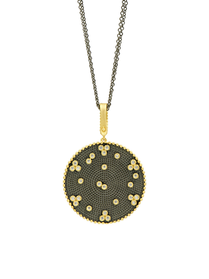 Freida Rothman Signature Double Sided Pendant Necklace