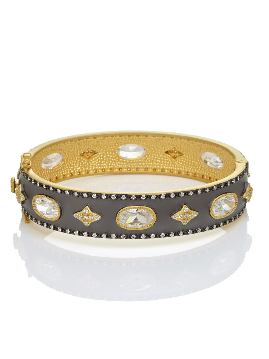 Freida Rothman Signature Wide Hinge Bangle