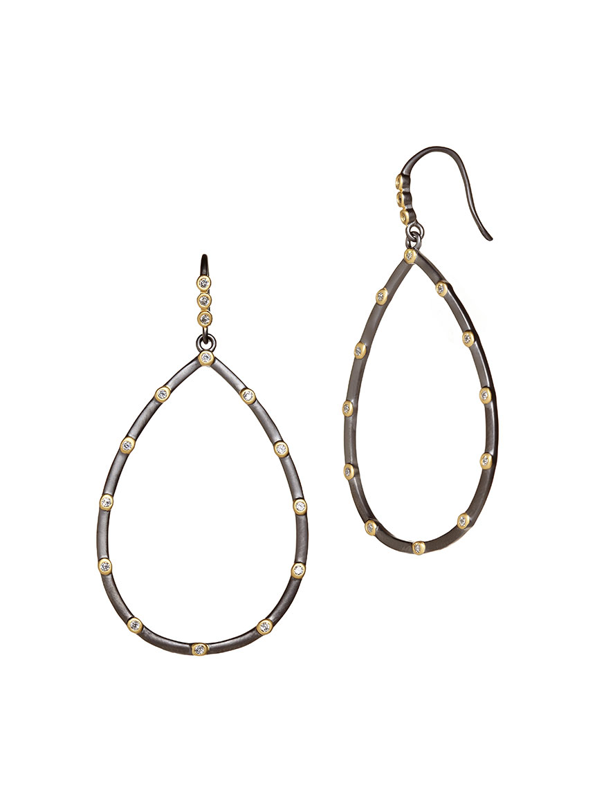 Freida Rothman The Best Everyday Bezel Teardrop Earrings