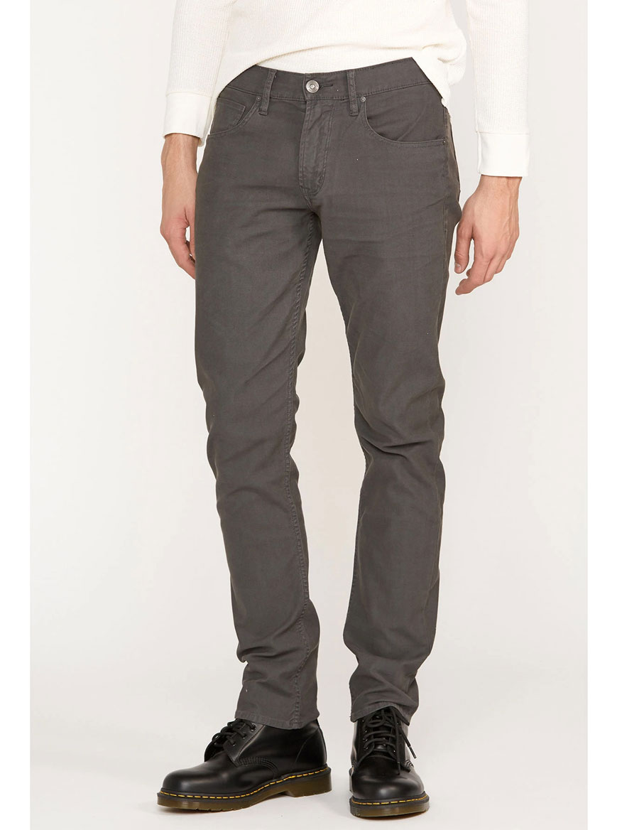 Hudson Blake Slim Straight Twill Jean in Dark Grey