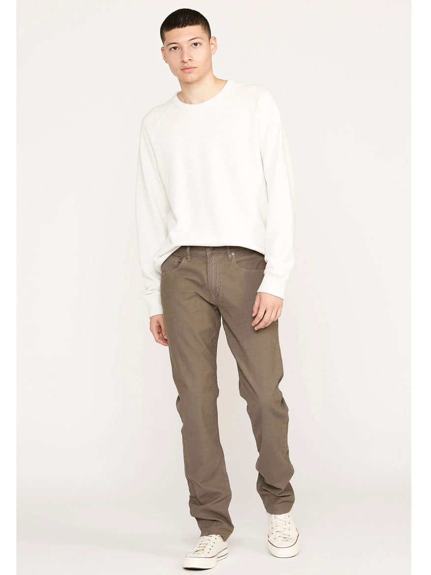 Hudson Blake Slim Straight Twill Jean in Gravel