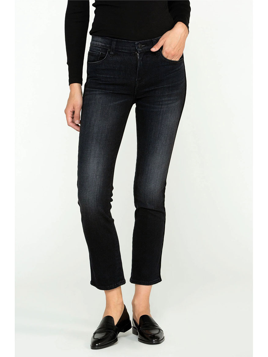 Hudson Nico Midrise Straight Crop Jean in Prolong