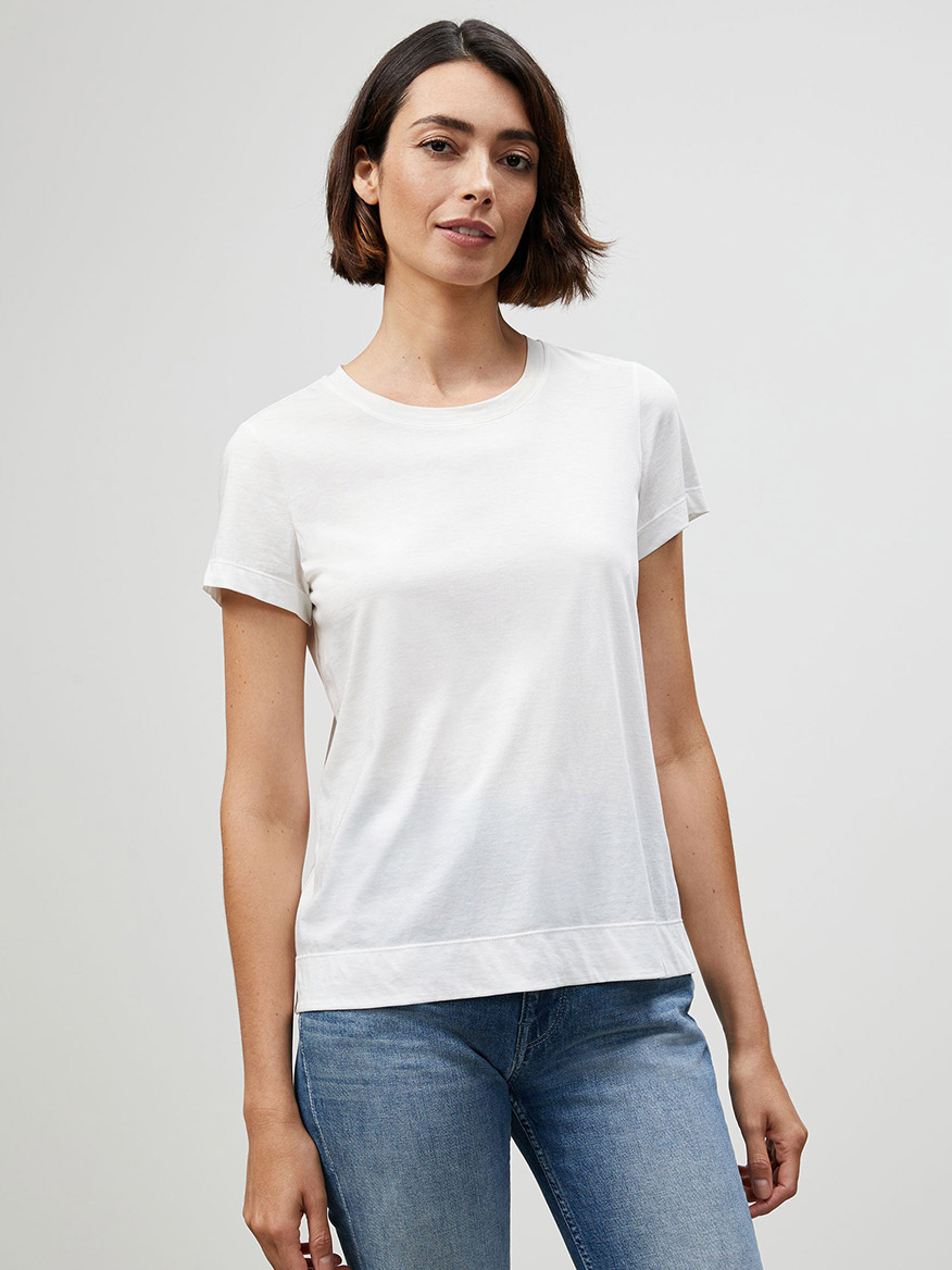 Buy Cotton Jersey Modern Tee White Tops Larrimors.com