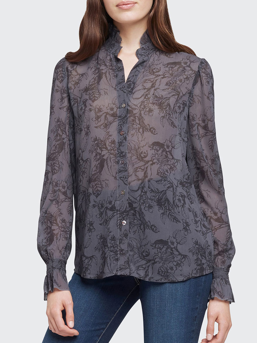 Buy Carla Blouse Charcoal Tops Larrimors.com