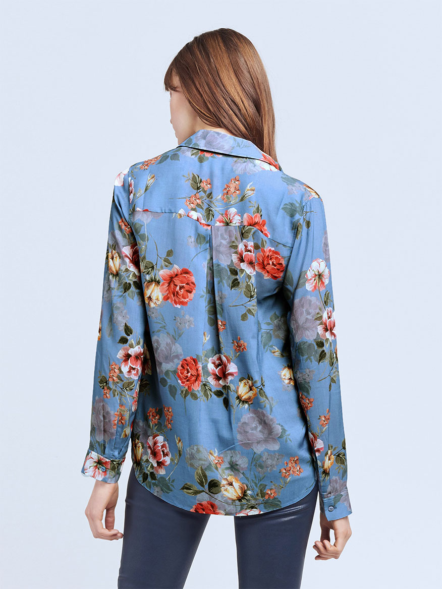 L'Agence Holly Blouse in Antique Rose