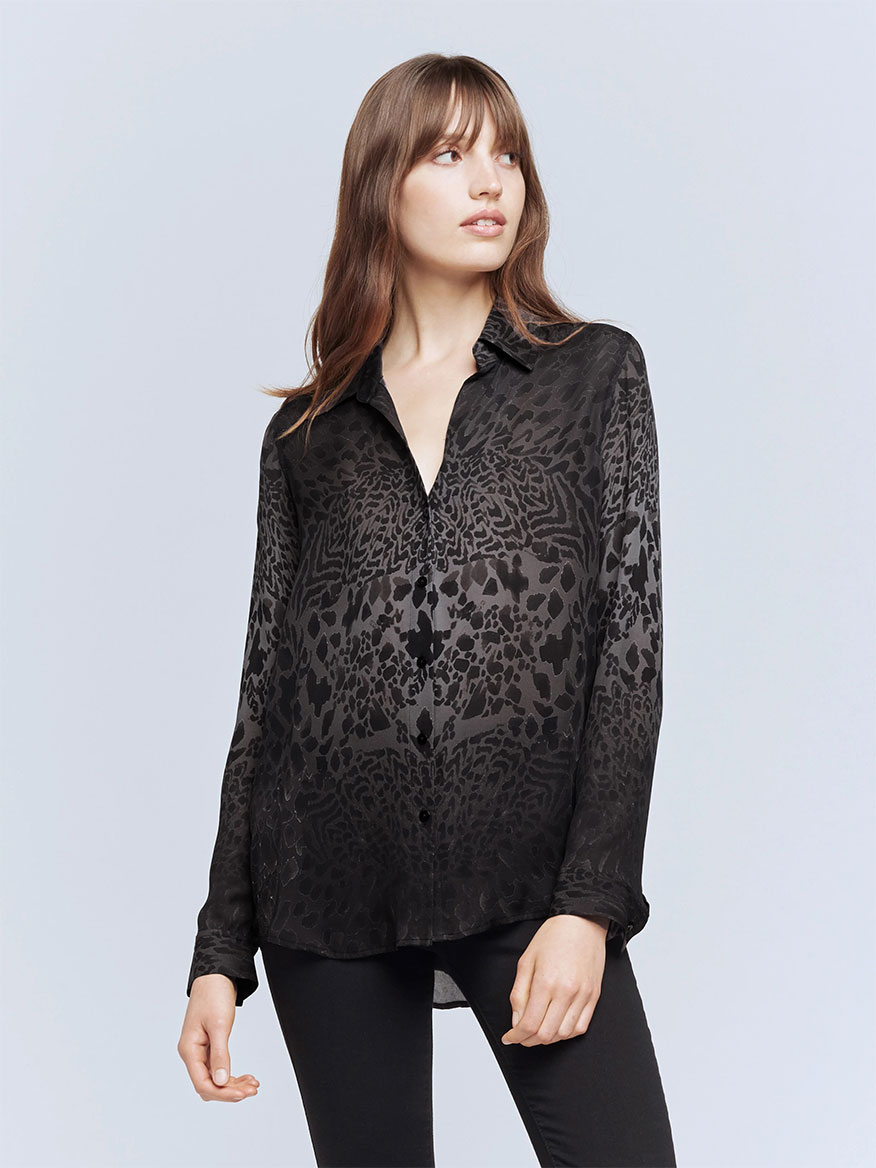 Buy Nina Blouse Black Tonal Tops Larrimors.com