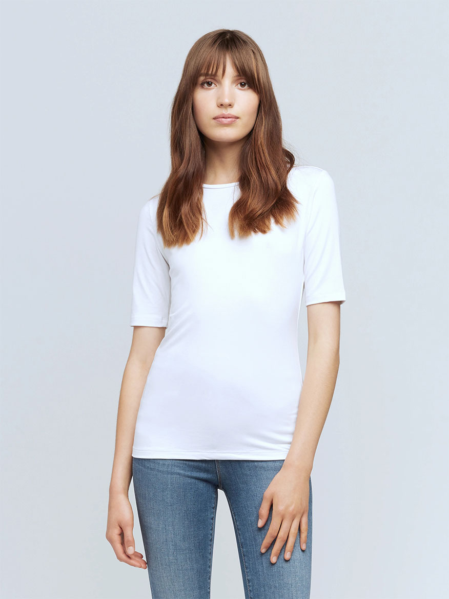 L'Agence Casey Tee in White