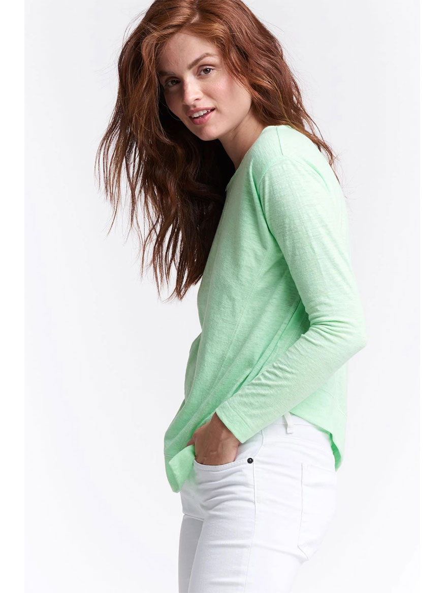 Lisa Todd Panel Play Knit Top in Green Crush