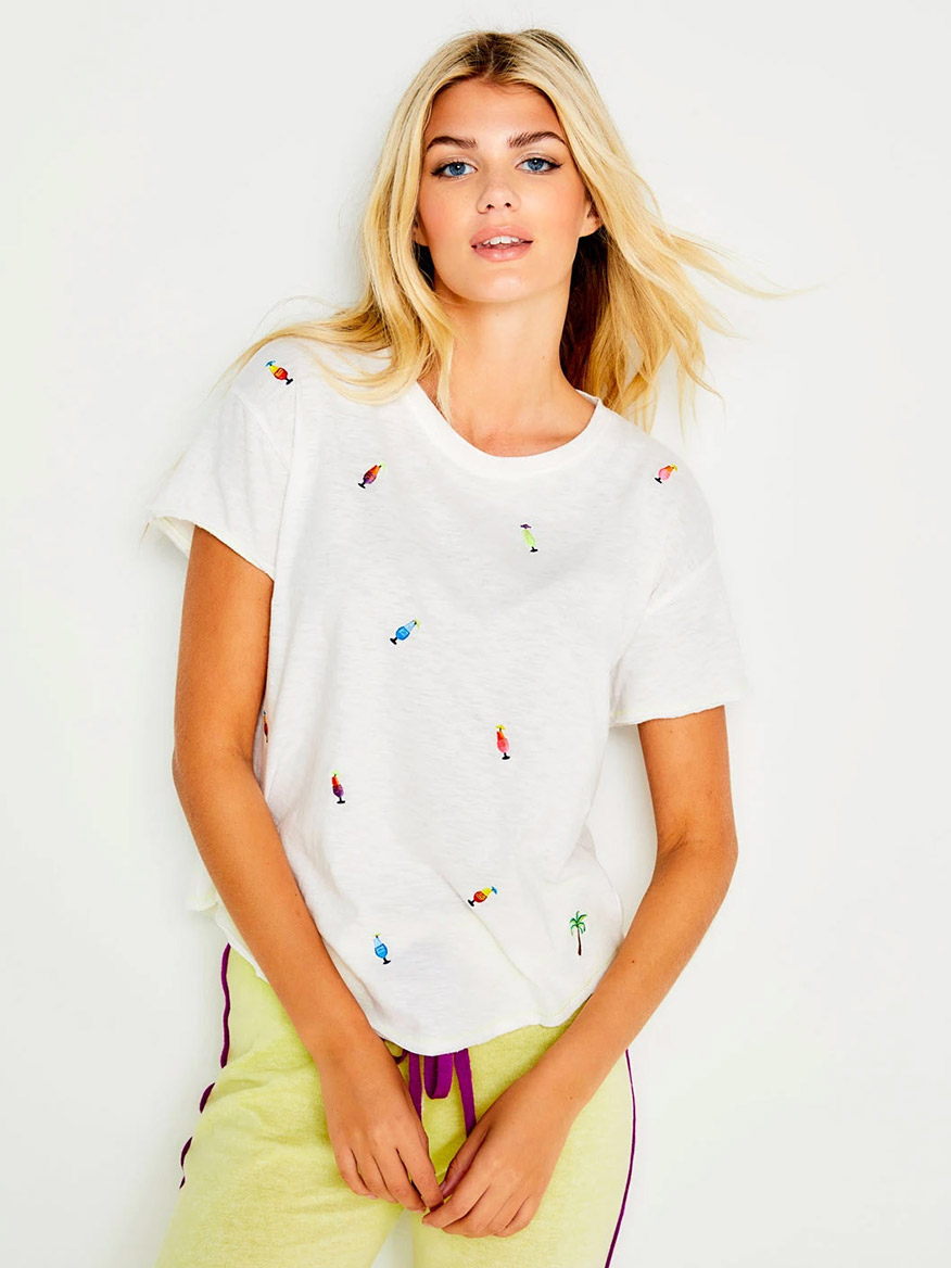 Buy Happy Hour Tee White Tops Larrimors.com
