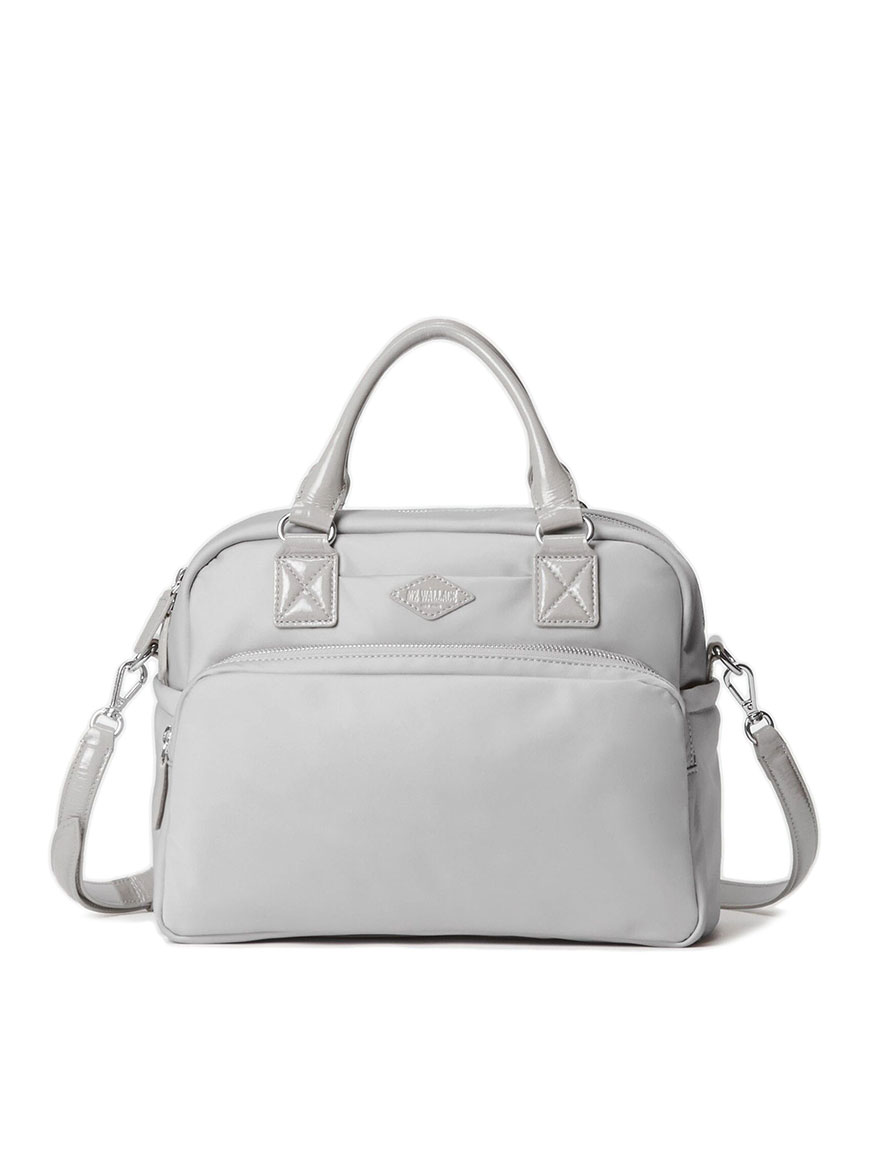 MZ Wallace Gramercy Satchel in Fog Bedford