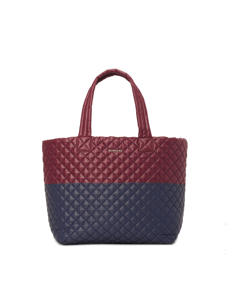 Buy Large Metro Tote Deluxe Maroon Navy Handbags Larrimors.com