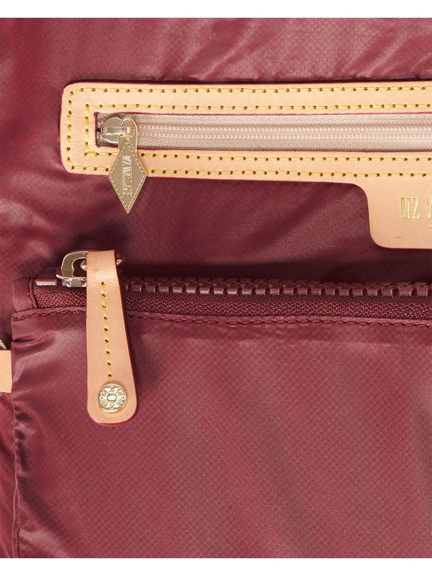 MZ Wallace Large Metro Tote Deluxe in Maroon & Navy Oxford Colorblock