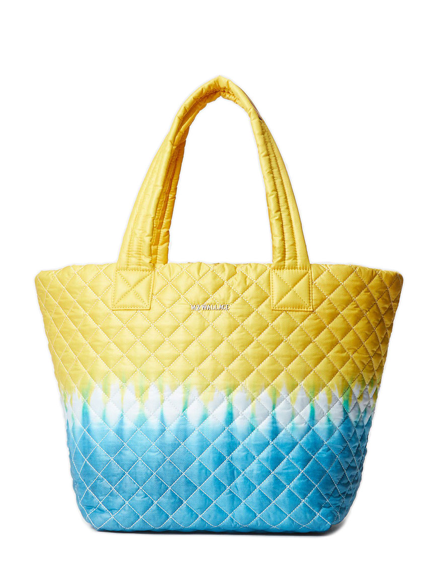 MZ Wallace Medium Metro Tote in Daffodil Tie Dye Oxford