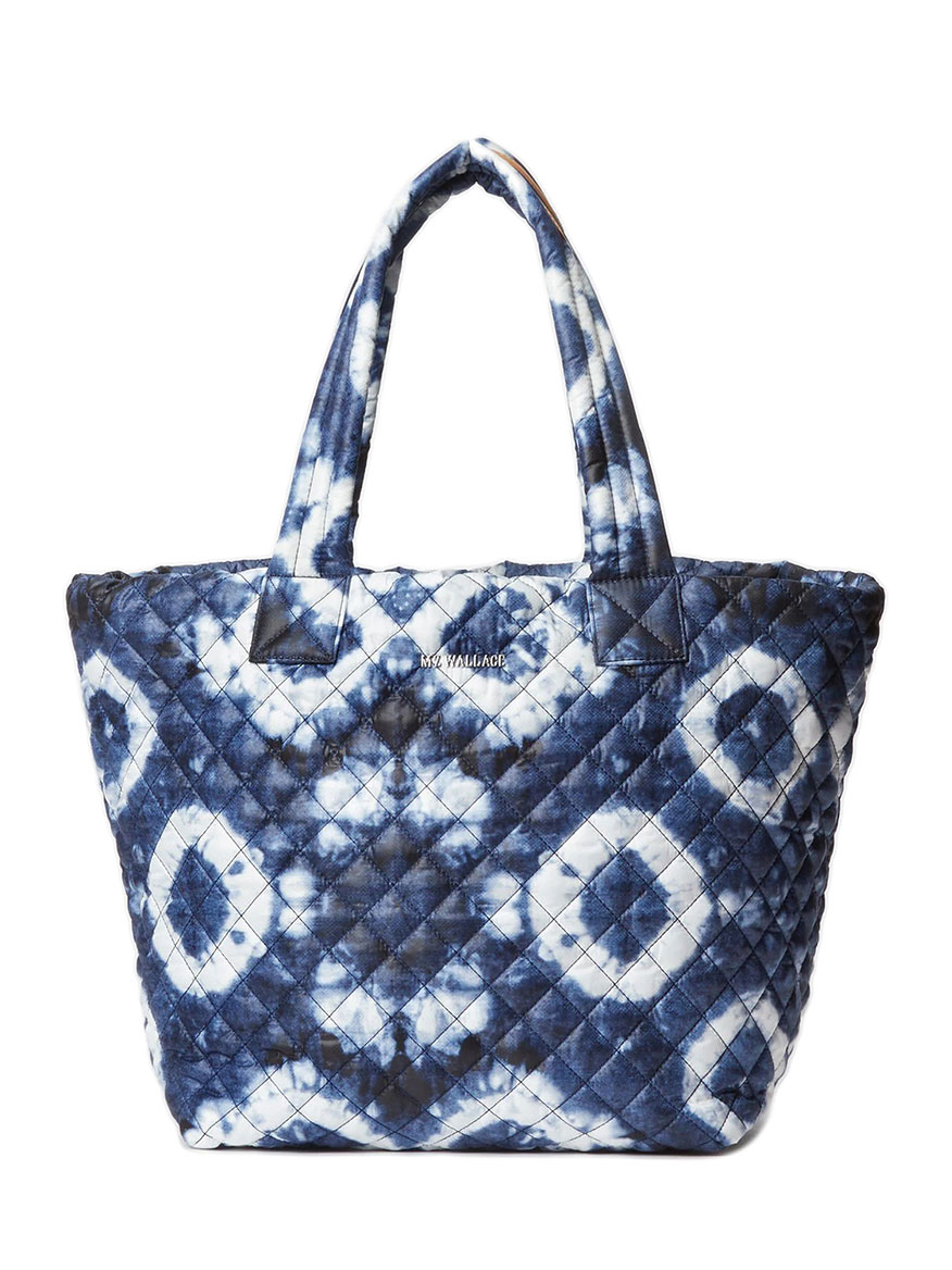 MZ Wallace Medium Metro Tote in Indigo Tie Dye Oxford