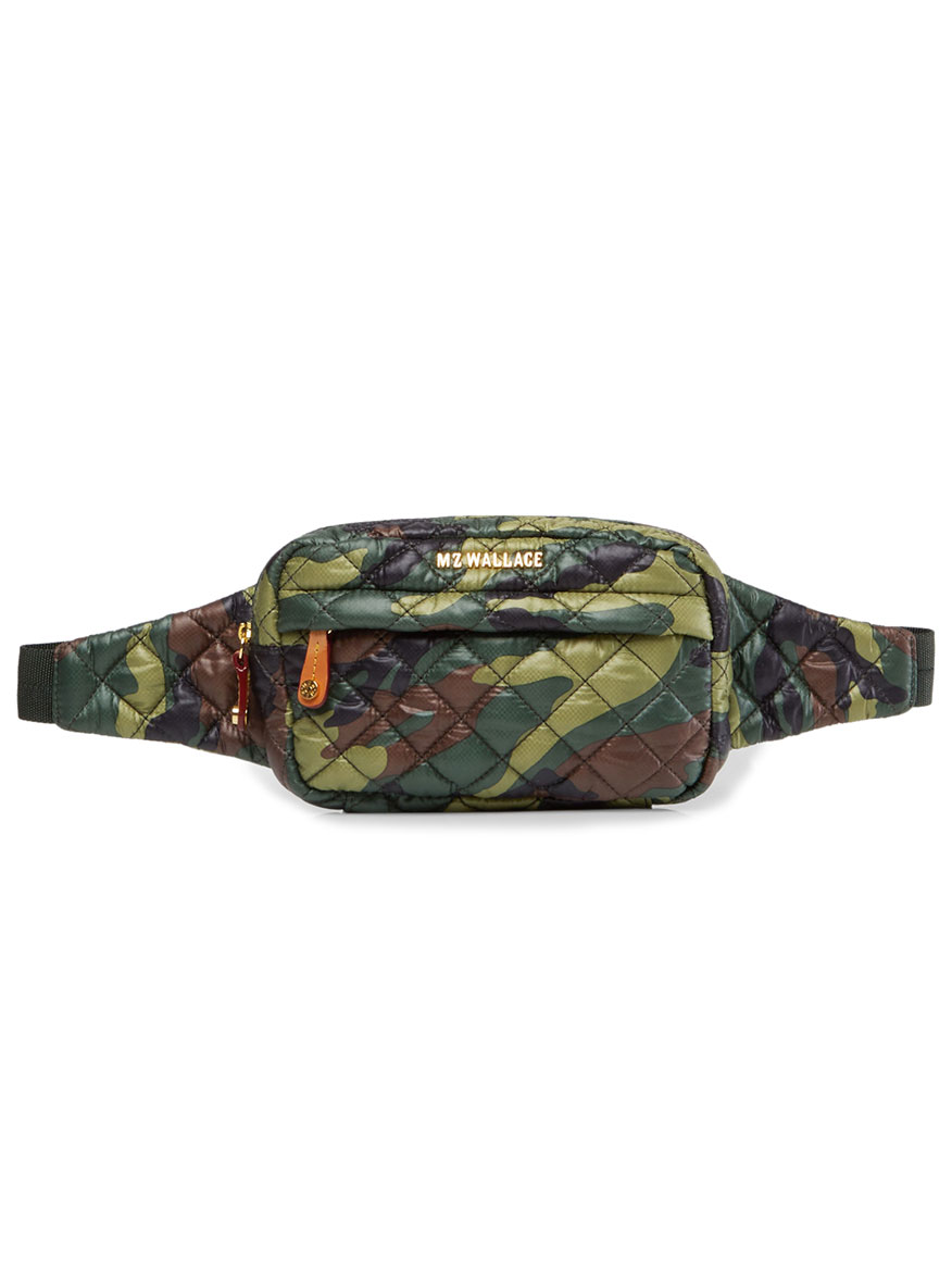 MZ Wallace Metro Belt Bag in Green Camo Oxford