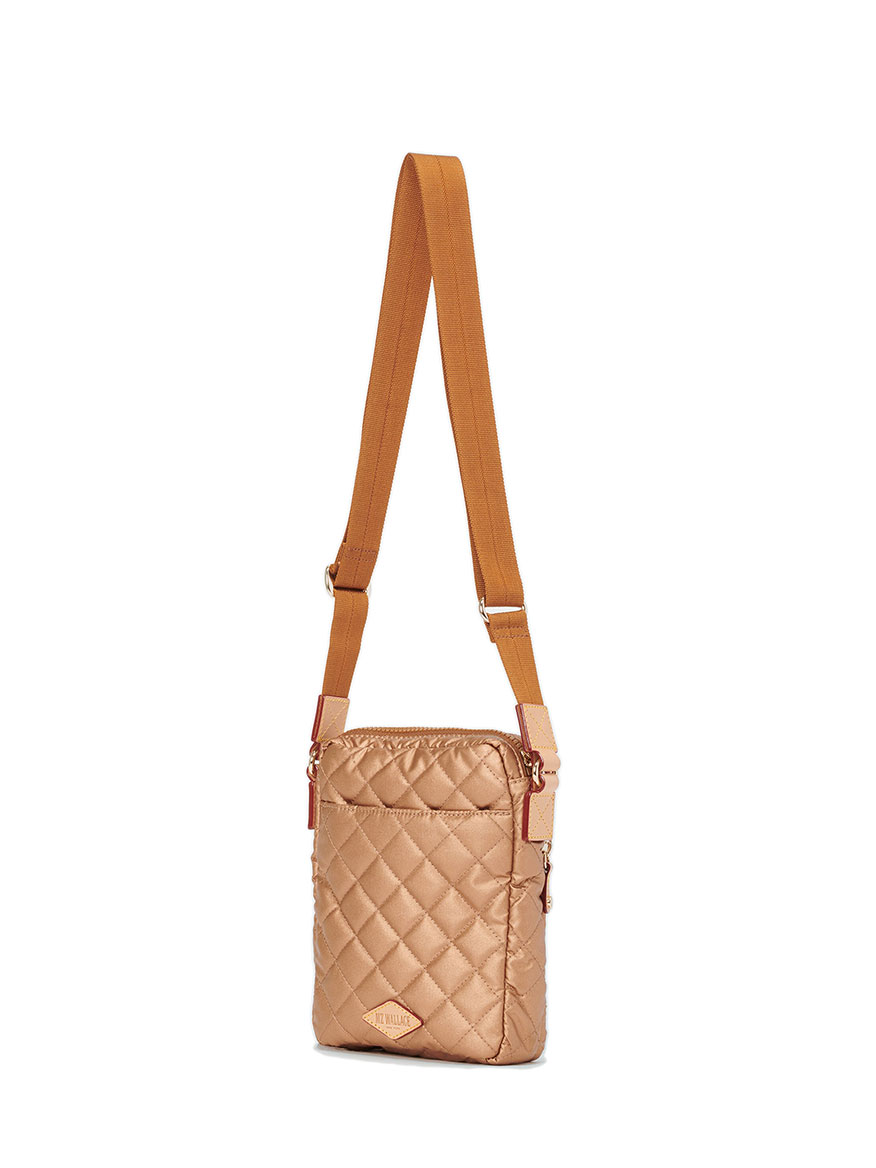 MZ Wallace Metro Crossbody in Copper Metallic Oxford