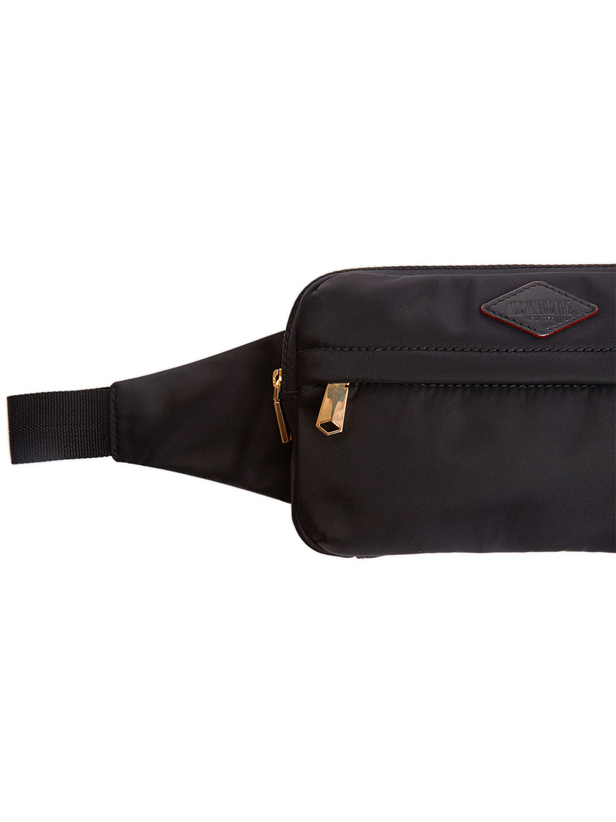 b3930225b9026d ... MZ Wallace Soho Belt Bag in Black Bedford with Gold Hardware ...
