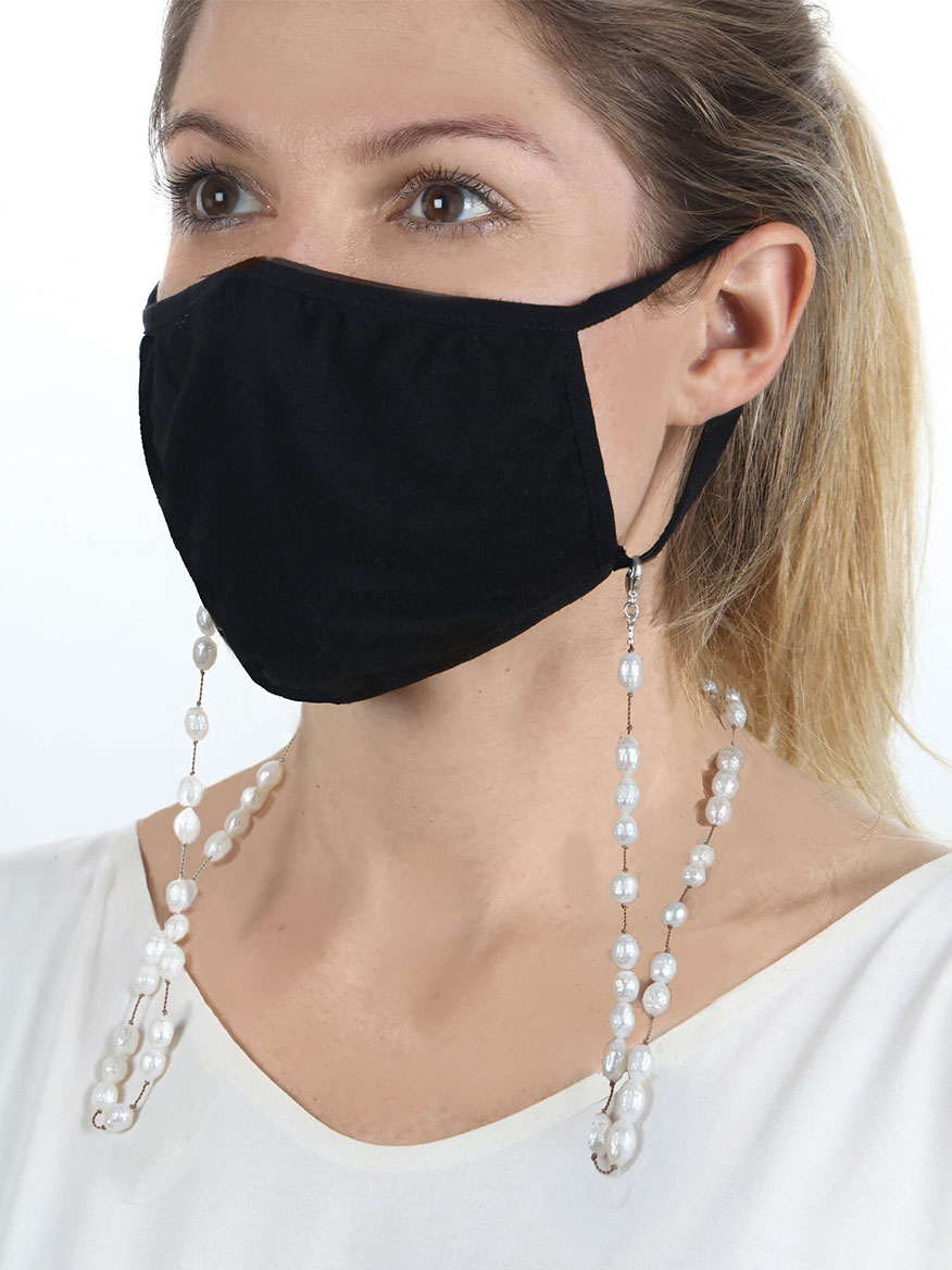 Buy Faceted White Freshwater Pearl Mask Chain Jewelry Larrimors.com