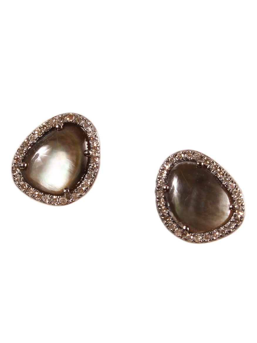 Margo Morrison Abalone & Diamond Earrings