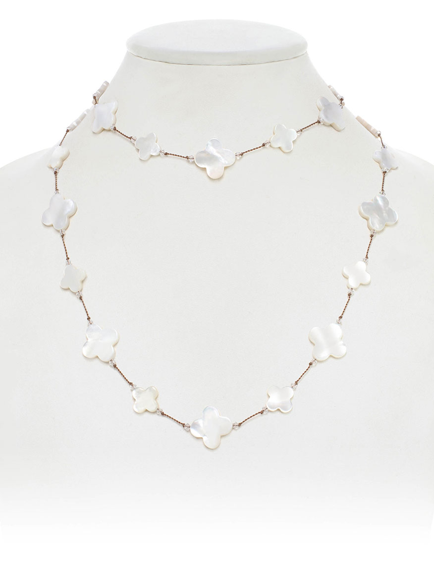 Margo Morrison Mother-of-Pearl Clover Necklace