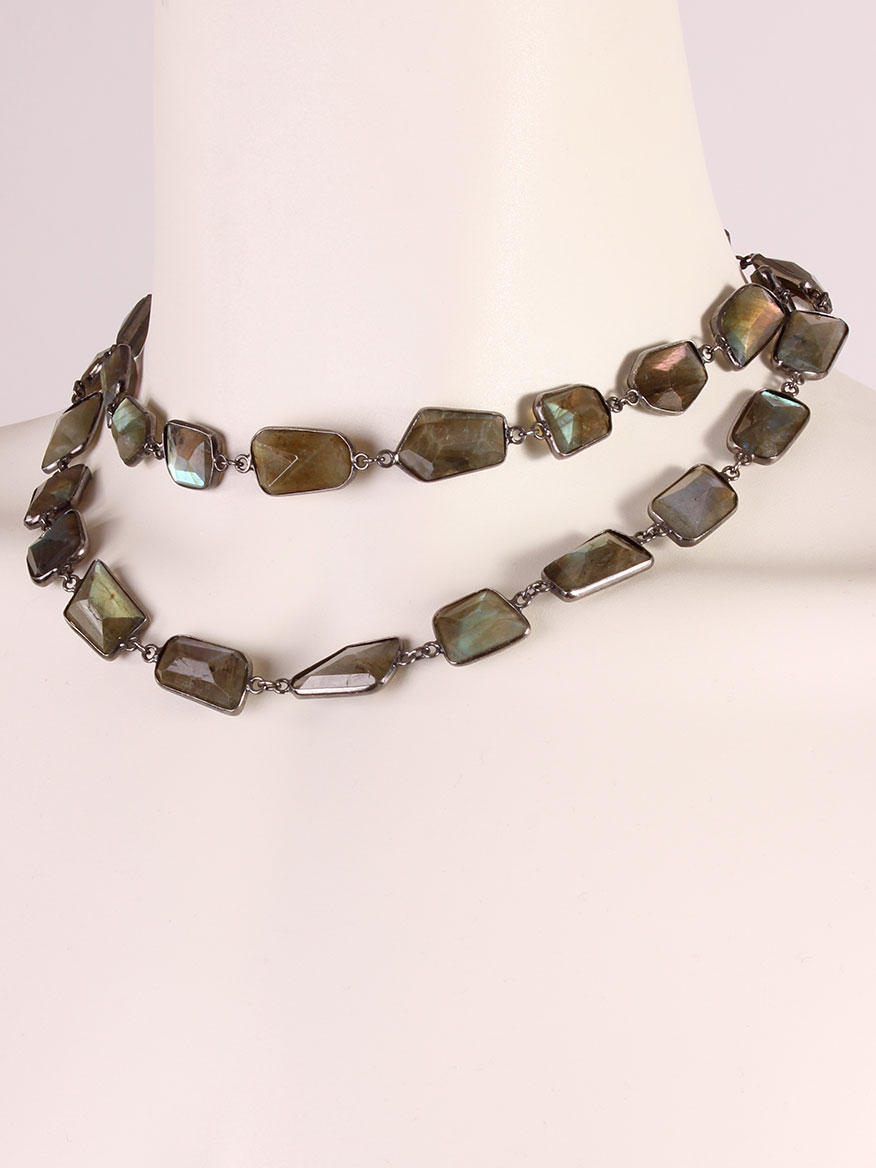 luluwinter rolo plain adjustable gemstone cabochon labradorite bronzallure com necklace with