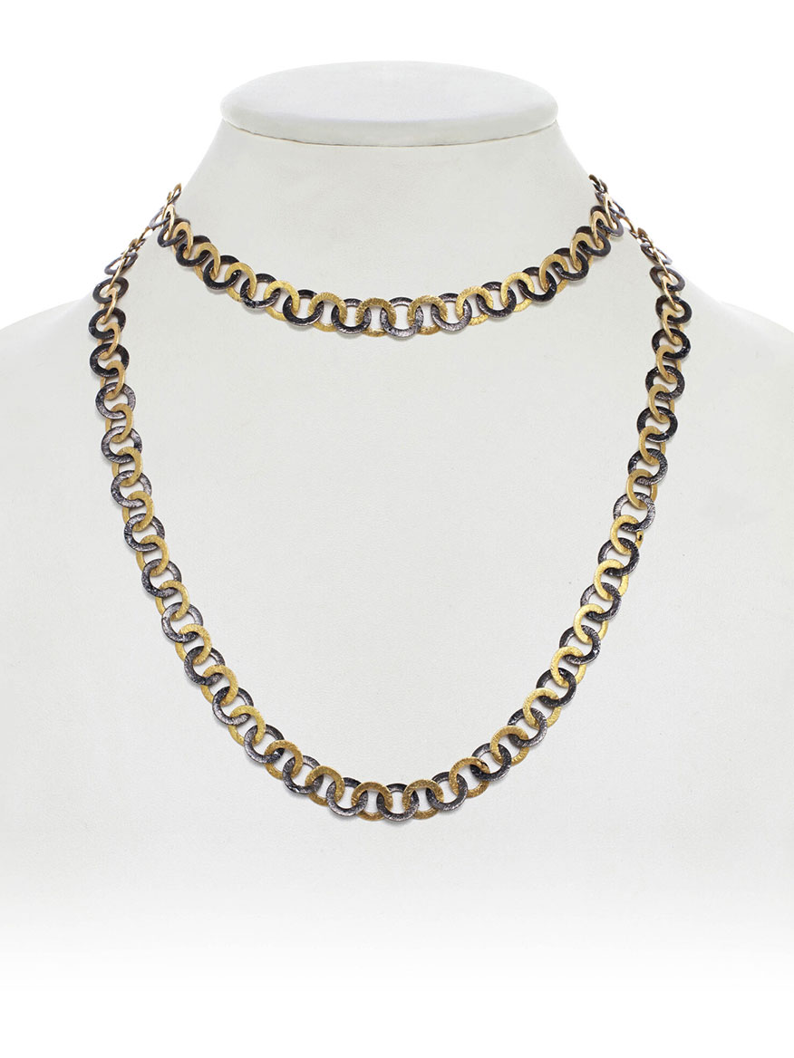 Margo Morrison Two-Tone Flat Link Necklace