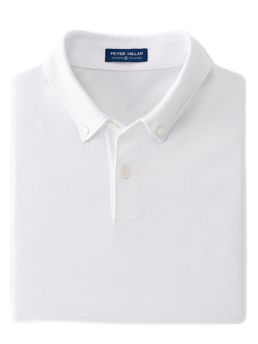 Buy Ace Cotton-Blend Pique Polo White Polos Larrimors.com