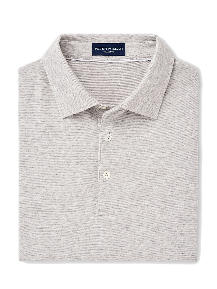 Peter Millar Excursionist Flex Polo in Argento