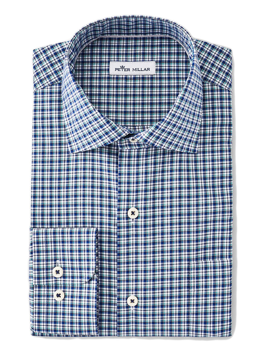 Peter Millar Crown Ease Curtis Sport Shirt in York Blue