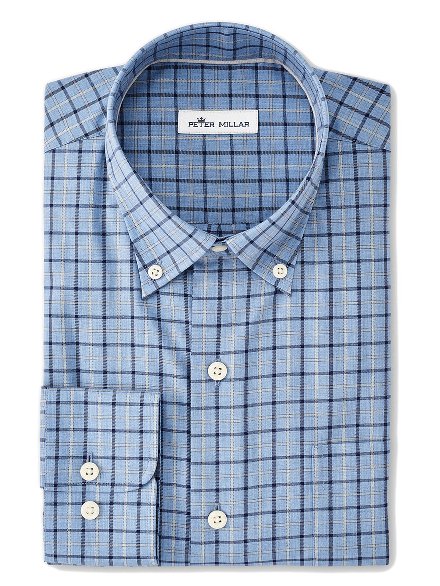 Buy Crown Ease Edward Blue Sport Shirts Larrimors.com