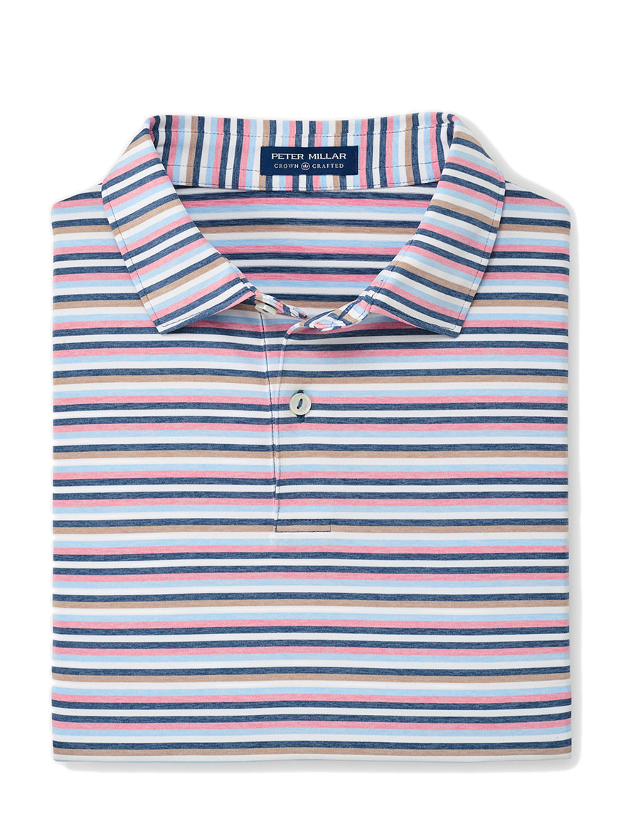 Peter Millar Kane Performance Polo in Blue Agate