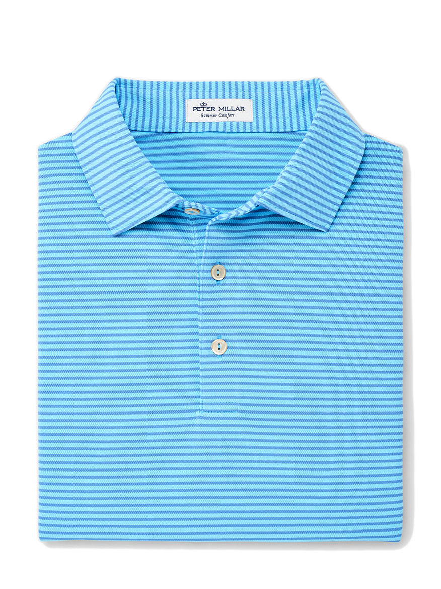 Peter Millar Grace Performance Polo in Tropical Blue
