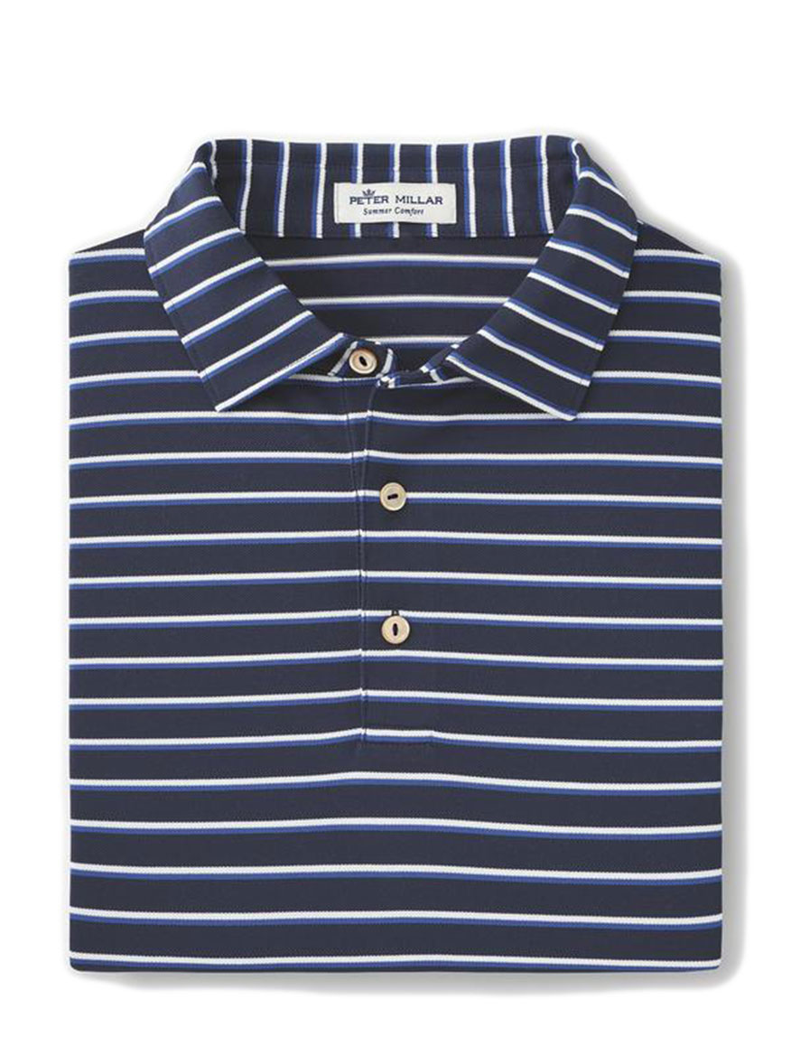 Peter Millar Coley Performance Polo in Navy