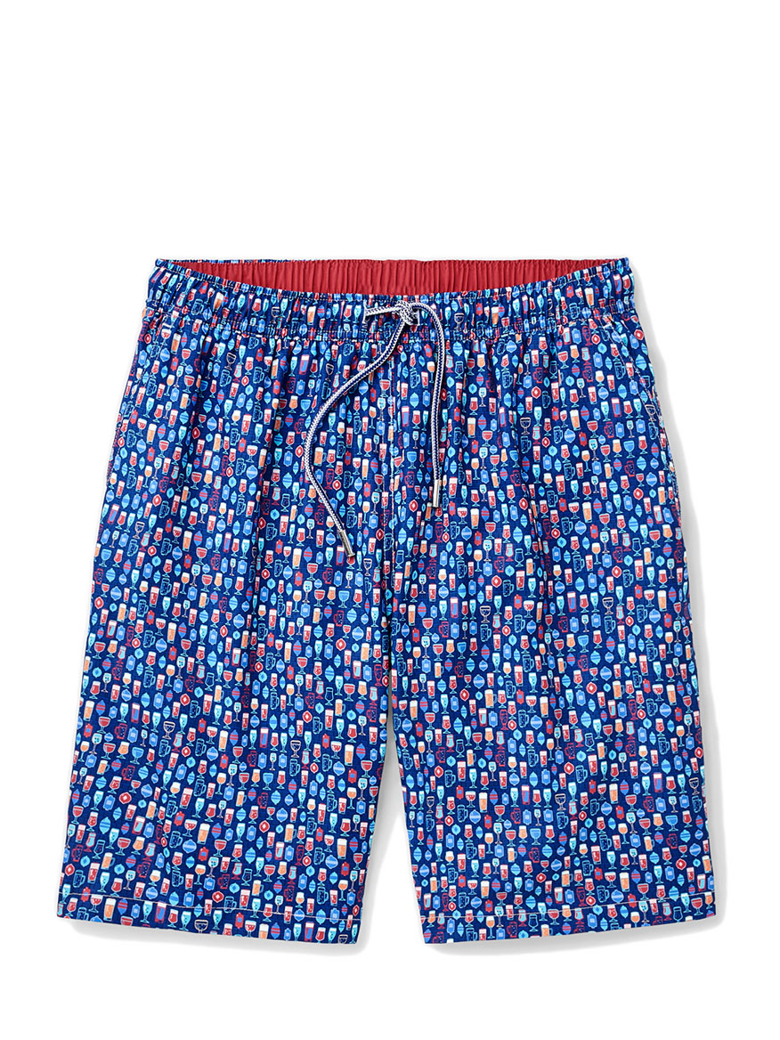 Peter Millar Shakers and Suds Swim Trunk in Atlantic Blue